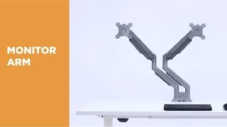 Performance Gas Spring Aluminum Monitor Arm - LDT34-C024