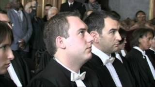 preview picture of video 'Prestation de serment Douai - 17 octobre 2011'