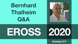 Bernhard Thalheim: Q&A Session