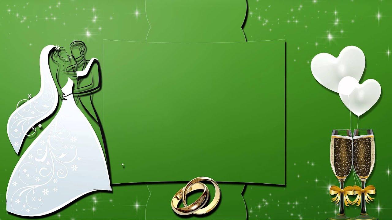 Своими, зеленая свадебная открытка