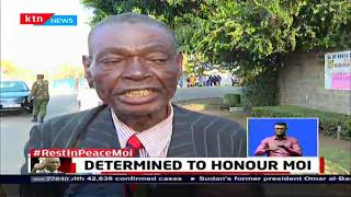 76-year old Nathan Atumbi cycled over 200Km to Moi's residence in Kabarak