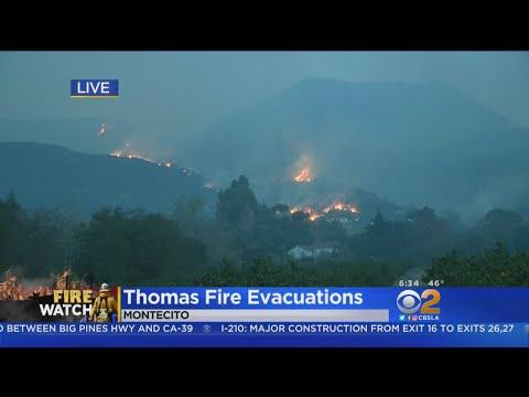 Santa Barbara, Fillmore Still Threatened By Thomas Fire