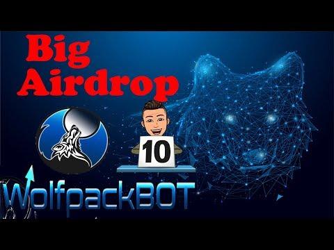 Ganhe $40 dólares direto na carteira  Airdrop WolfpackBot , LIMITADO !