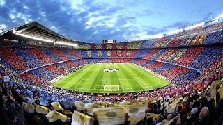 The spectacular mosaic before FC Barcelona - Juventus