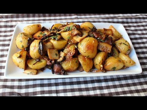 Roasted Wild Mushroom & Potato Salad – Fall Mushroom & Potato Side Dish Recipe
