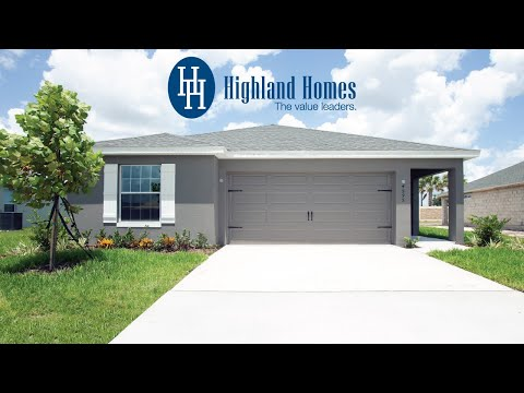 Hibiscus home plan by Highland Homes - Florida New Homes for Sale