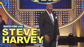 Rapid Fire with Steve Harvey:  Favorite Bands, First Big Paycheck, And More