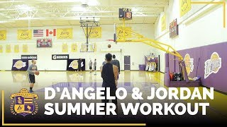 Want to see what D'Angelo Russell and Jordan Clarkson are working on in the gym