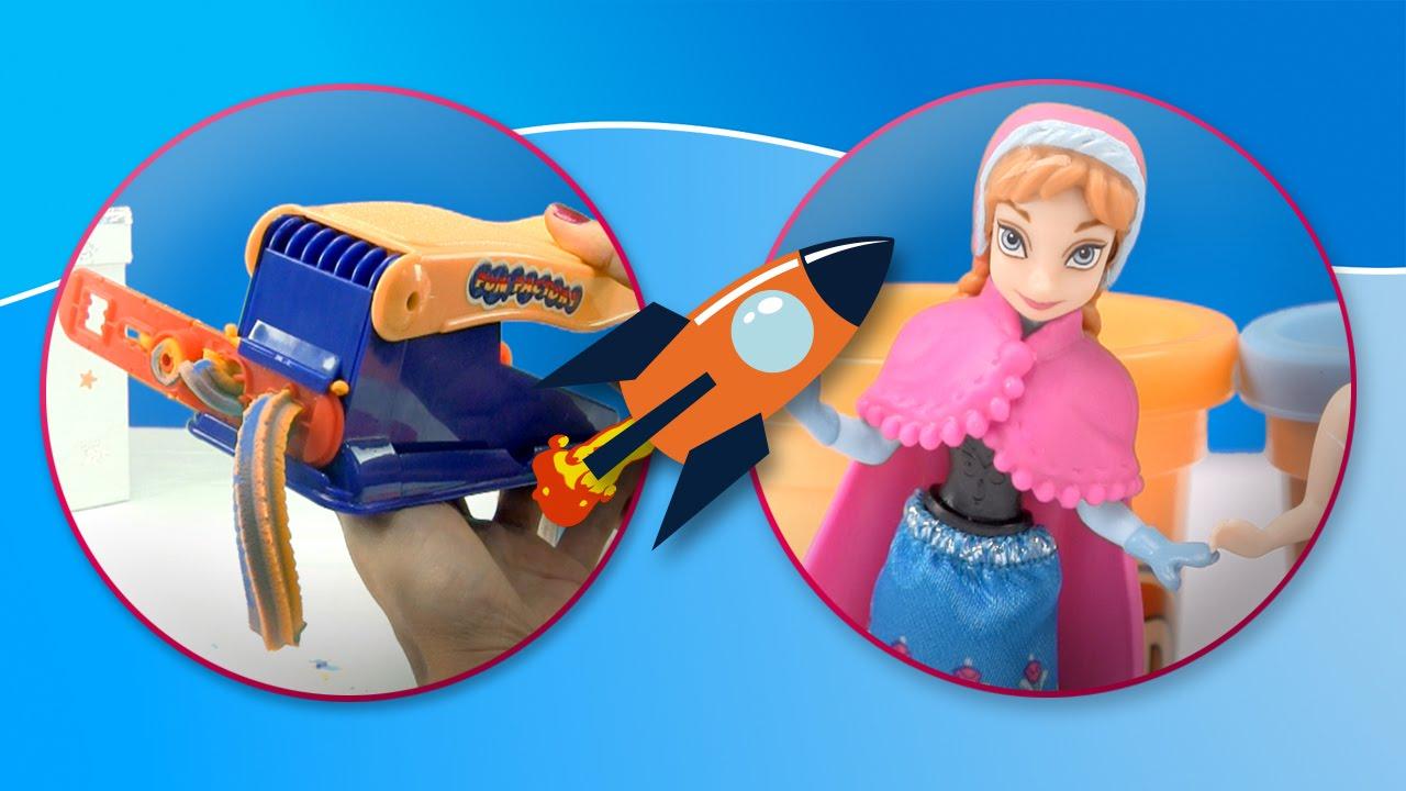 Frozen y la fábrica de plastilina de Play Doh