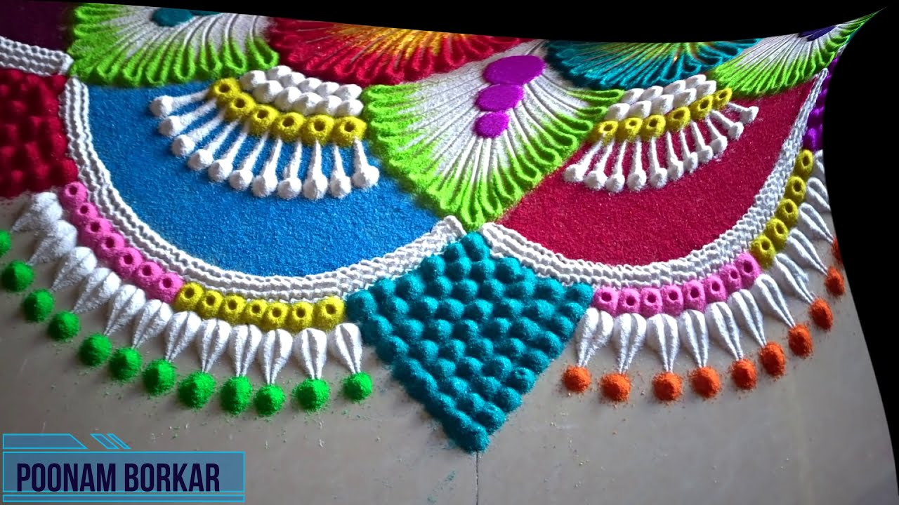 rangoli competition big and colourful by poonam borkar