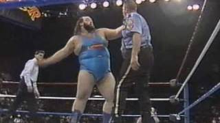 Earthquake vs The Big Boss Man At Survivor Series Showdown 1990