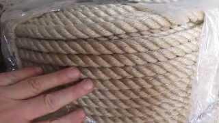 Джутовый канат д. 12 мм. дл. 300 м от компании ЭКО-ДОМ - видео