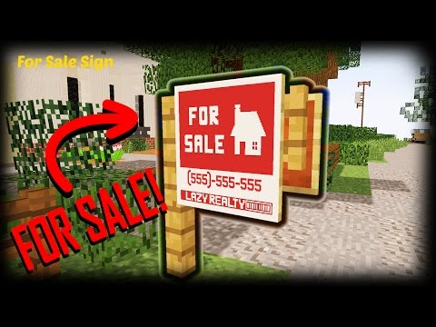 Minecraft - How To Make A For Sale Sign Custom Map Minecraft Blog - forsale sign