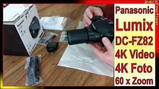 Panasonic Lumix DC-FZ82 Bridge Kamera ✔ 4K Videos 4K Fotos - 60x Zoom [ Alternative zu Nikon Sony ]