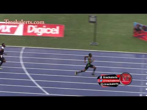 400m世界ユース記録保持者の100m