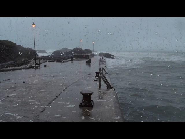 Ocean Storm Sounds for Sleep or Study   Loud Thunder, Waves, Howling Wind & Heavy Rain   Stormy Sea
