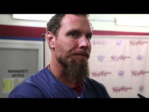 Riders Playback: Josh Hamilton Interview after first rehabilitation game