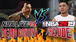 NBA 2K19 PRELUDE VS NBA LIVE 19 DEMO