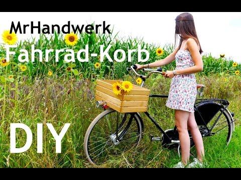DIY Fahrradkorb - Holzkistenkorb fürs eigene Rad