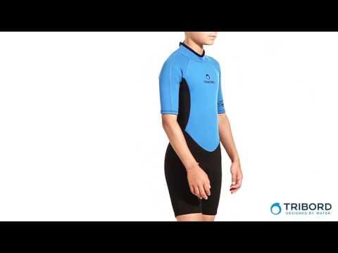 Neoprene Shorty Infantil Azul Tribord - Exclusividade Decathlon