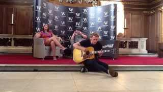 Jamie Campbell Bower Singing Get Your Guns And Waiting At The London Event