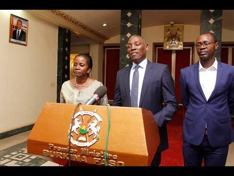 M.Mabingue Ngom en audience au Premier Ministère du Burkina Faso