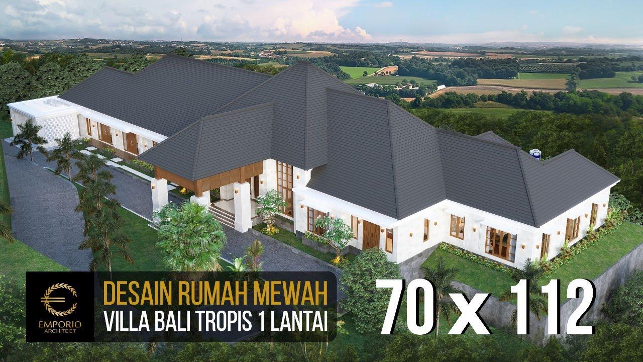 Video 3D Desain Rumah Villa Bali 1 Lantai Mr. D - Bukittinggi, Sumatera Barat
