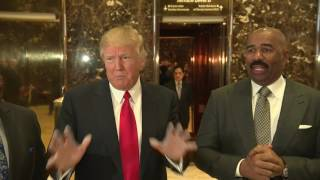MUST WATCH: Donald Trump and Steve Harvey Together At Trump Tower