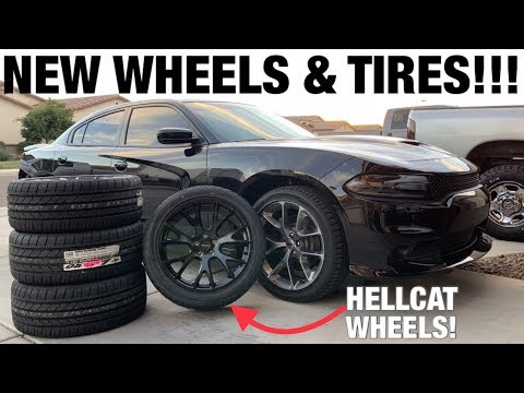GOIN WIDER!!! Hellcat Replica Wheels and New Tires on My 2019 Dodge Charger RT Plus! 275/40ZR20 20x9
