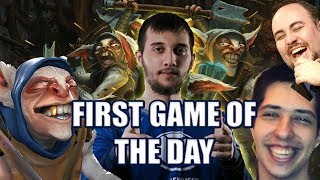 Dota 2: Arteezy - MEEPWNED | First Game of the Day