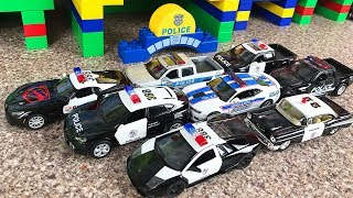 My collection Police Car toys - Garage Constructor Play Car toy videos for kids