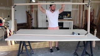 How to Build a Dining Table - Part Two - Build an Apron and Attach Legs