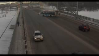 ДТП Череповца Октябрьский мост Камри автобус в 10.41