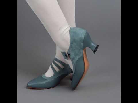 Mae Edwardian Shoes (French Blue)