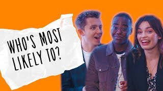 The cast of Sex Education play 'Who's Most Likely To..?'