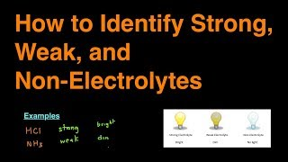 How To Identify Strong, Weak, And Non-Electrolytes