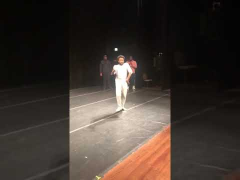 Childish Gambino performs for an auditorium of high school students in Chicago