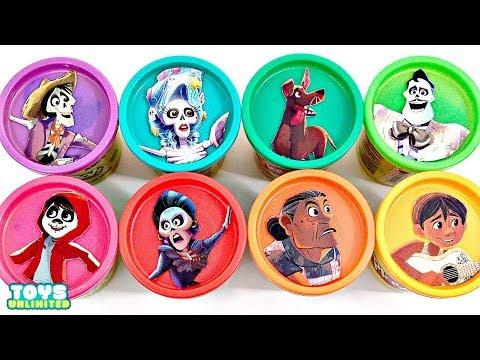 Disney Pixar's COCO  Play-Doh Lids TOY SURPRISES