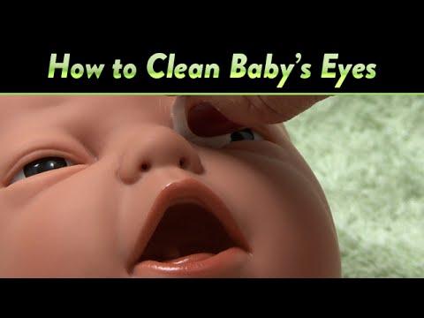 Καθαρίστε τα μάτια του μωρού σας ακολουθώντας τις αναλυτικές οδηγίες