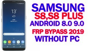 SAMSUNG Galaxy Note8 FRP/Google Lock Bypass Android 9 (Pie