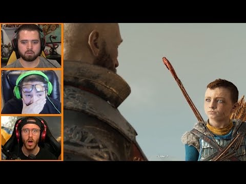 Let's Players Reaction To Atreus His True Name | God Of War (PS4)