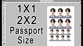 How to make 1x1 2x2 and passport size ID picture | Adobe Photoshop