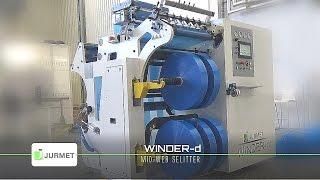 WINDER-d is a mid-web slitter rewinder for various materials