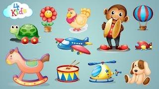 Viele Spielzeuge und Spielsachen Lernvideo für Kinder und Kleinkinder (deutsch)