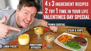 4 x 3 ingredient recipes 2 try 1 time in your life Part 16 | Valentines Day Special