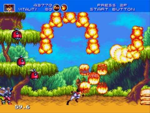 Gunstar Heroes (Sega Mega Drive / Sega Genesis) – Ravenking's Gameplay