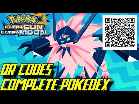 pokémon ultra sun and ultra moon complete pokédex all qr codes