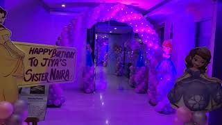Cinderella Birthday Party Decorations With Full Of Balloons Themes 09891478183 Disney Princess Party