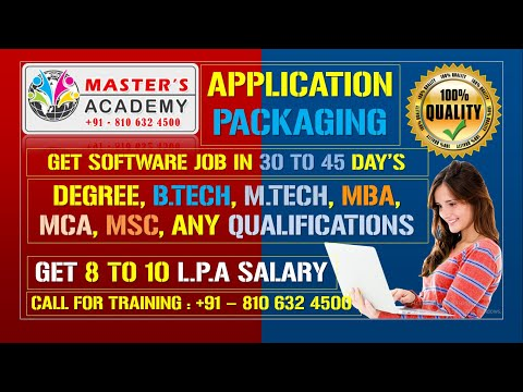 Application Packaging Training Videos | Explain About File ...