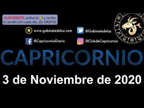 Horóscopo Diario - Capricornio - 3 de Noviembre de 2020